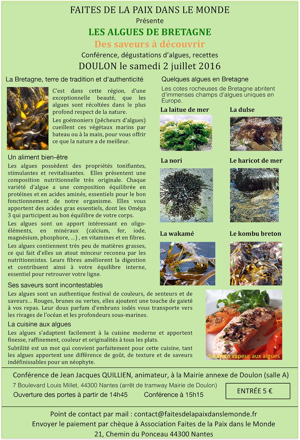 Les algues de Bretagne